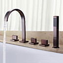 cheap Rings-Bathtub Faucet - Antique Classic Oil-rubbed Bronze Widespread Brass Valve
