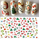 billige Christmas Nail Art-1 pcs Klistremerker & Tape Nail Decals Nail Art Design