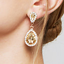cheap Earrings-Women's Crystal Drop Earrings / Earrings - Crystal, Zircon, Imitation Diamond Drop Fashion, Elegant, Bridal Champagne For Wedding / Party / Anniversary