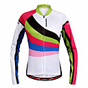 cheap Cycling Pants, Shorts, Tights-WOSAWE Women's Long Sleeve Cycling Jersey - Rainbow Bike Jersey, Quick Dry Polyester