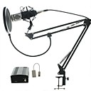 cheap LED Spot Lights-Audio Kit BM700 Microphone Recording Studio Microphone  with Windproof Window Filter  Arm Holder 48v Phantom Power