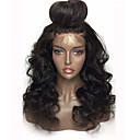 cheap Human Hair Wigs-Human Hair Glueless Lace Front / Lace Front Wig Body Wave Wig 130% Natural Hairline / African American Wig / 100% Hand Tied Women's 10 inch / 12 inch / 14 inch Human Hair Lace Wig