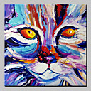 cheap Party Supplies-Oil Painting Hand Painted - Animals Abstract Modern Canvas