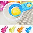 abordables Utensilios para huevos-color de caramelo huevo divisor yema separador cocina gadgets