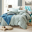 cheap Solid Duvet Covers-Duvet Cover Sets Solid Colored Cotton Print 4 Piece