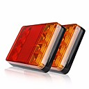 cheap Motorcycle Lighting-ZIQIAO 2Pcs 8 LEDS Car Truck Rear Tail Light Warning Lights Rear Lamps Waterproof Tailights Rear Parts for Trailer Truck Boat DC 12V