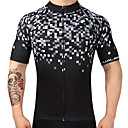 cheap Cell Phone Cases & Screen Protectors-FUALRNY® Men's Short Sleeve Cycling Jersey - Black Plaid / Checkered Bike Jersey Top, Quick Dry Breathability, Summer, 100% Polyester / High Elasticity