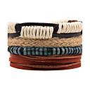 cheap Men's Bracelets-Men's Wrap Bracelet Leather Bracelet - Leather Personalized Bracelet Brown For Daily Stage Street