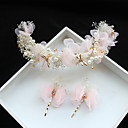 cheap Party Headpieces-Tulle / Chiffon / Lace Flowers / Hair Clip with 1 Wedding / Special Occasion / Birthday Headpiece