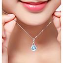 olcso Divat nyaklánc-Női Szintetikus gyémánt Mértani Nyaklánc medálok - Ezüst, Cirkonium Luxus, Klasszikus, Bohém Többutas viselet Fehér Nyakláncok Ékszerek Kompatibilitás Karácsony, Parti, fokozatokra osztás