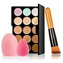 abordables blush-15 couleurs Set de maquillage Correcteur / Contour Pinceaux de Maquillage 4 pcs Sec Correcteur Adulte / Quotidien # Niveau professionnel Maquillage Cosmétique