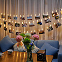 cheap LED String Lights-3m String Lights 20 LEDs SMD 0603 Warm White / RGB / White Waterproof / Color-Changing 4.5 V / IP65