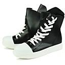cheap Men's Sneakers-Men's PU(Polyurethane) Fall / Winter Comfort Sneakers Running Shoes White / Black