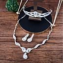 abordables Tocados de Fiesta-Mujer Conjunto de joyas - Corona Moda Incluir Collar / Pendientes elegantes por delante y por detrás Blanco Para Boda