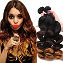 cheap Natural Color Hair Weaves-1 Bundle Brazilian Hair Loose Wave Virgin Human Hair Others / Ombre Hair Weaves / Hair Bulk 12-24 inch Human Hair Weaves Classic Human Hair Extensions Women's / Girls'