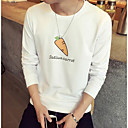cheap Wall Stickers-Men's Cotton T-shirt - Letter Print Round Neck / Long Sleeve