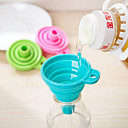cheap Kitchen Tools-Candy Color Home Long Neck Funnel Creative Kitchen Gadgets Use Everyday 1pc