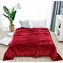 preiswerte Sofadecken & Überwürfe-Korallenfleece, Bedruckt Solide Gemischte Polyester/Baumwolle Decken