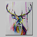 cheap Stretched Canvas Prints-Oil Painting Hand Painted - Animals Abstract Modern Canvas