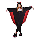 cheap Kigurumi Pajamas-Adults' Kigurumi Pajamas Bat Animal Onesie Pajamas Polar Fleece Black Cosplay For Men and Women Animal Sleepwear Cartoon Festival / Holiday Costumes