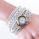 billige Modeure-Dame Armbåndsur / Diamantbelagt ur Kinesisk Kreativ Læder / PU Bånd Luksus / Afslappet / Mode Sort / Hvid / Blåt / Et år / Jinli 377