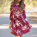 cheap Wedding Decorations-Women's Cute Swing Dress Print High Rise