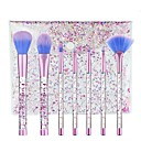 cheap Blush Brushes-7 pcs Makeup Brushes Professional Makeup Brush Set / Blush Brush / Eyeshadow Brush Synthetic Hair Crystal Plastic