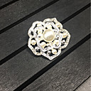 cheap Pins and Brooches-Women's Brooches - Roses, Flower Brooch Silver For Wedding / Party / Gift / Daily