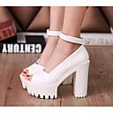preiswerte Damen Sandalen-Damen Schuhe PU Sommer Komfort / Pumps High Heels Weiß / Schwarz