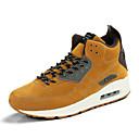 baratos Sapatos Esportivos Masculinos-Homens Sapatos Confortáveis Couro de Porco Verão / Outono Tênis Corrida Cinzento / Amarelo / Khaki / Cadarço