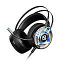 זול Headsets & Headphones-AJAZZ AX360 7.1 רצועת ראש חוטי אוזניות דִינָמִי פלדת על חלד / פלסטי גיימינג אֹזְנִיָה עם בקרת עוצמת הקול / עם מיקרופון אוזניות