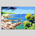 cheap Prints-Oil Painting Hand Painted - Landscape Comtemporary Stretched Canvas