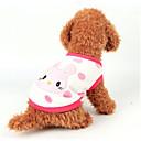 abordables Ropa para Perro-Perro Chaleco Ropa para Perro Caricatura Blanco / Amarillo / Rosa Franela Disfraz Para mascotas Casual / Diario