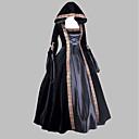 cheap Modules-Medieval / Renaissance Costume Women's Dress / Party Costume / Masquerade Black Vintage Cosplay Satin Sleeveless Knee Length / Floor Length