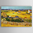 cheap Oil Paintings-Oil Painting Hand Painted - Landscape Comtemporary Stretched Canvas / Rolled Canvas