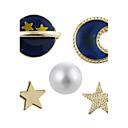 olcso Divatos melltűk-Női Beszúrós fülbevalók - Gyöngy Luxus, Geometrijski oblici Arany Kompatibilitás Parti / Iskola