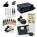 cheap Starter Tattoo Kits-BaseKey Tattoo Machine Starter Kit - 1 pcs Tattoo Machines with 7 x 15 ml tattoo inks, Professional LED power supply Case Included 1