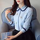 cheap Wall Stickers-Women's Work Blouse - Embroidery Shirt Collar