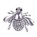 cheap Men's Bracelets-Crystal Brooches - Silver Plated, Gold Plated Bee, Animal Classic, Fashion Brooch Gold / Silver For Gift / Daily