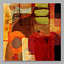 cheap Oil Paintings-Oil Painting Hand Painted - Abstract Artistic Canvas