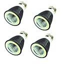 baratos Lâmpadas de LED-4pçs 7W 550lm Lâmpadas de Foco de LED MR16 1 Contas LED COB Decorativa Branco Quente Branco Frio 220V