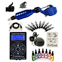 cheap Starter Tattoo Kits-Tattoo Machine Starter Kit - 1 pcs Tattoo Machines with 7 x 15 ml tattoo inks, Professional LED power supply Case Included 1 rotary