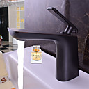 cheap Softshell, Fleece & Hiking Jackets-Bathroom Sink Faucet - Rainfall Black Deck Mounted Single Handle One Hole