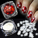 cheap Rhinestone & Decorations-2pcs Sequins / Christmas Ornaments / Nail Glitter Sparkle & Shine / Sequins / Christmas Nail Art Design