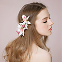 cheap Party Headpieces-Fabric Flowers / Headwear / Hair Clip with Floral 1pc Wedding / Special Occasion Headpiece