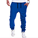 cheap LED String Lights-Men's Active Street chic Cotton Harem Sweatpants Pants - Solid Colored