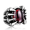 cheap Men's Rings-Men's Ring - Stainless Steel, Titanium Steel Personalized, Fashion 7 / 8 / 9 Black / Red For Daily / Casual