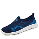 cheap Women's Sneakers-Women's Shoes PU(Polyurethane) Summer Comfort Sneakers Flat Heel Round Toe Lace-up Blue / Pink / Black / Red