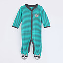 cheap Baby Girls' One-Piece-Baby Boys' Striped Long Sleeve Cotton Overall & Jumpsuit