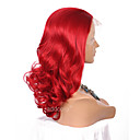 cheap Rubik's Cubes-Synthetic Lace Front Wig Wavy Synthetic Hair Natural Hairline Red Wig Women's Long Lace Front Red